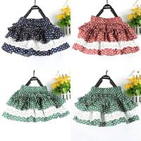 Pretty Baby Girl Kids Polka Dot Skirts Children Ruffled Princess Tutu Skirt 2-7YFree&DropShipping