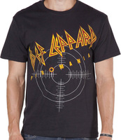 Pyromania Def Leppard Shirt Men T-shirts100% Cotton Short sleeve16 Colors Customized Logo Free Shipping