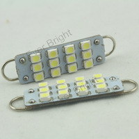 100pcs 44mm 12 smd 12 Led 1210 Led light Car bulb Auto Interior Dome Lamp Door Lights