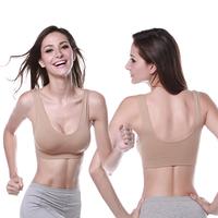 Women Ladies Yoga Sports Vest Bra Tops Underwear Seamless Slim Casual Push Up Bra Size M-XL for Freeshipping