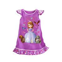 1PCS+Free 2014 Hot Selling New Style Girls Sofia princess beautiful Dress Fashion princess Dress Children's Cloting G001