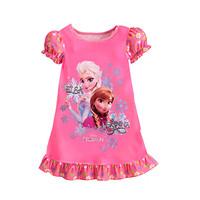 1PCS+Free 2014 Hot Selling New Style Girls Frozen Dress Elsa Anna beautiful Dress Fashion princess Dress Children's Cloting G009