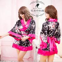 Hot Sale Sexy Lingerie Japanese Satin Kimono Fancy Dress Geisha Cosplay Exotic Apparel Halloween Costumes