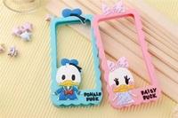 Cute Disny Graffiti Art Donald Daisy Duck Cartoon Silicon Bumper Phone Case for Apple iphone 5 5S