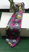 2014 Hot Sale Smile Face Design Polyster Printing Children Necktie
