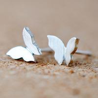 Promotion ! 2014 new earring 925 sterling silver stud earring butterfly earrings ST-ER-006
