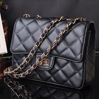 Women handbag soft leather famous brand design bag women clutch plaid handbags high quality femininas shoulder bags WH104