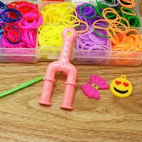 2014 Hot Selling 600pcs/box Small Plastic PVC box loom bands kit set for DIY bracelet FXU030-99