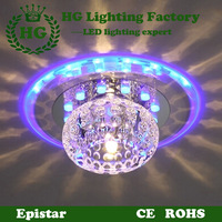 cheap circular LED crystal ceiling light,applicable for corridors,porches and walkways