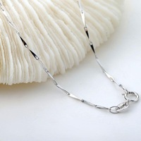 Wholesale or retail 45cm 925 sterling silver Seeds chain Necklace Jewelry peneny fashion ST-NK-004