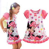1PCS+Free 2014 Hot Selling New Style Girls  beautiful Dress Fashion princess Dress Children's Cloting G004