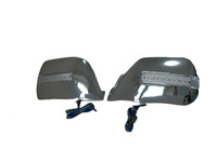 Chrome Mirror Cover with LED Turn Signal Lights Fits For Toyota Land Cruiser FJ80 (1990-1998)