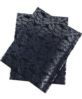 AFRICAN SEGO HEADTIE SG0074  2 Pcs/set Print Wholesale Nigerian head tie head wear Floral Black