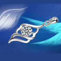 Crystal Jewelry Necklace Pendant, High quality, 925 Sterling Silver Pendants Antiallergic, Wholesale Fashion Jewelry