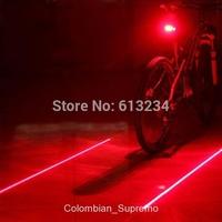 Free Shipping 1Piece Bicycle Laser Lane Marker / Bike Lane Safety Light Rear Light / novelty bicycle seapost lighting
