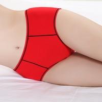 Free Shipping 1PC women cotton panties stripped underwear women breathe freely briefs Women's Clothing>Intimates>Panties