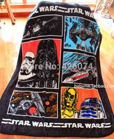 Free Shipping 2014 New Star Wars Children Cartoon Plush Blanket Super Soft Coral Fleece Fabric Carpet Boys Sheet