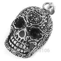 Free shipping! Gothic Biker Skull Pendant Stainless Steel Jewelry Punk Men Motor Biker Pendant SWP0242