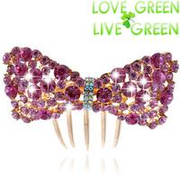 2014 high quality fashion women bridal wedding rhionestones Hair comb clip Headress hairpins hairbands hair jewelry  608