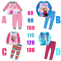 Hot saling!snow Romance Short sleeved suit Tracksuit sleepwear Kids Clothing Children's Outfits Sets Cartoon