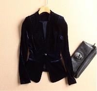 Velvet perfect three-dimensional cut velvet hyper slim blazer women