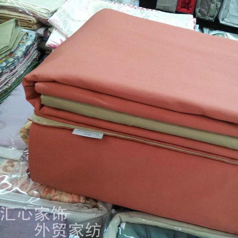 Grampo longo de cetim de algodão 100% algodão quatro peças conjunto estilo americano , mais cama de casal duvet colcha(China (Mainland))
