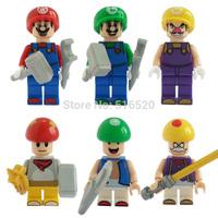 Wholesale Super Mario Bros Luigi Mario Figures Classic Toys Building Blocks Sets Model Bricks Minifigures Toys For Children