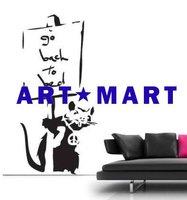 Go to Bed Rat - Banksy Wall Mural NO.453