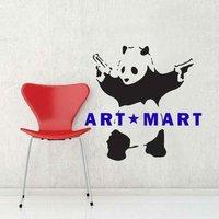 Banksy Panda Wall Art Decal for Home Decor NO.196  ART MART