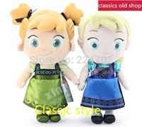 Free shipping 2PC/SET 30cm Frozen Plush Doll Toy Frozen childhood Frozen Elsa & Anna plush Soft Toys Girls Brinquedos Dolls