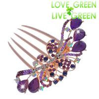 hair jewelry 2014 fashion women bridal wedding austrian crystal butterfly Hair comb accessories Headress hairpins hairbands 613