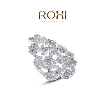 Roxi мода женские украшения высокое качество кольцо белый покрынная платина австрийский ручной работы