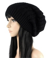 Fashion warm autumn winter knitted hat women stripes Skullies Beanies South Korean version of the hat 5 colors.
