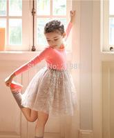 Wholesale ! Girls sweet  princess long-sleeved dress , dresses of girl , 5pcs/lot  LWH18