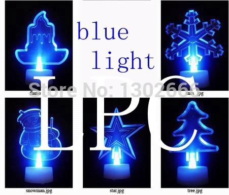 50 piece christmas led candle led tea light led tealight candle night light ,static blue color light(China (Mainland))