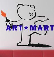 Banksy  Teddy Bear Art Vinyl Wall Sticker  No.1127 ART-MART