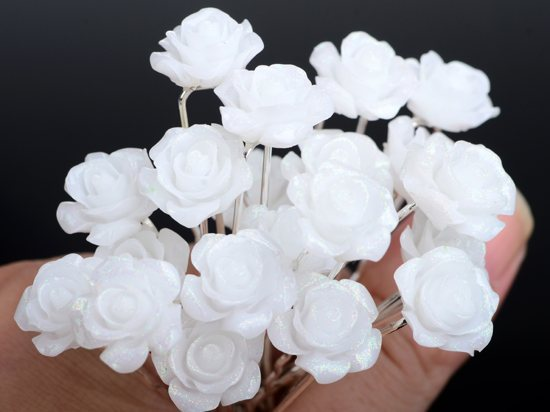 60pcs White Acrylic Hair Pin Pins for Bridal Wedding Jewelry Hair Clip Jewellery Flower Hair Accessories Lots(China (Mainland))