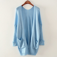 4 Color New Autumn Wholesale Prices Fashion Leisure Candy Color Lovely Elegant Simple Loose Thin Knit  Jacket Cardigan Sweater