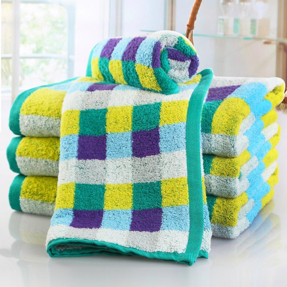 100% baumwolle solide gefärbt plaid jacquard-design handtuch Familie Gesicht handtücher haar handtuch waschlappen 30x70cm 2pcs/lot versandkostenfrei