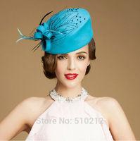 fashion top grade colorful 100% wool  mini top hats  party mini top hat fascinator