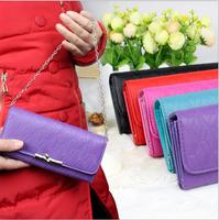Wholesale fashion casual lady wallet purse handbag portable multi-card bit wallet Wristlet