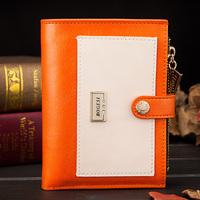 2014 Women's PU Leather Bowknot Button Hand Bag Bifold Long Clutch Wallet Purse