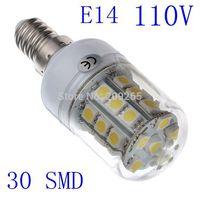 1piece/lot E14 110V 5W lampada led corn lights 5050 30SMD warm white/cold white led lamp bulb