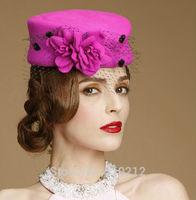 so beatiful top grade colorful 100% wool  mini top hats  party mini top hat fascinator
