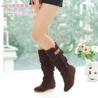 2014 New Arrival Winter Woolen Lady Snow Boots Sexy 3 Colors Black Orange Brown Women Boots SJK-223