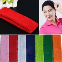 New Wide Stretch Fabric Hair Band Headband Football Rugby Tennis Golf Sport