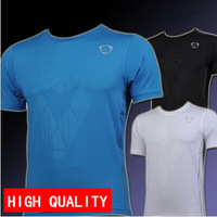 Hot sale 2014 NEW summer Men Quick Dry t-shirt Tops & Tees Slim Fit Sport Shirt plus-size M-XXL free shipping wholesale LSL028