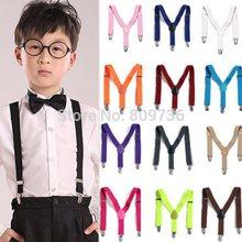 2014 New BOYS/GIRLS Suspender Children Clip-on Adjustable Elastic Pants Y-back Suspender Braces Belt children Black Free(China (Mainland))