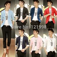 2014 New Arrival Spring Fashion Wild Korean  Stylish Fit  Suit Jacket Casual Business Dress Blazers SJK-222