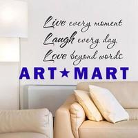 'Live, Laugh, Love' High Quality Vinyl Wall Sticker  NO.119 ART-MART